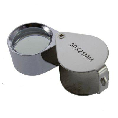 30 x 21MM Jewelry Magnifier Loupe Folding Watch