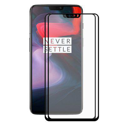 Hat – Prince Full Tempered Glass Screen Protector for OnePlus 6 2pcs