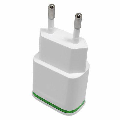 2 USB Ports Portable LED Wall Charger Power Adapter