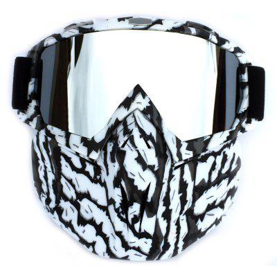 BF658 Motorcycle Goggles with Removable Face Mask sexing big view area 4 are sensor solar auto darkening filter tig mig mma welding helmet face mask electric welder mask goggles