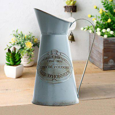American Village Bucket Flower Retro Metal Barrel Iron Kettle new arrival american country industrial retro creative personality restaurant bar cafe iron and glass chandelier free shipping