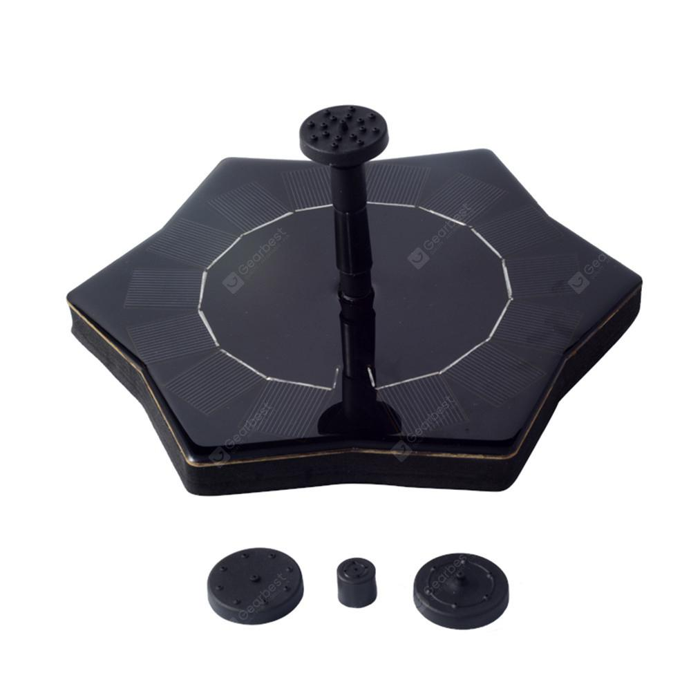RCT - 607 Solar Powered Fountain Pump for Pool Decoration -  Black