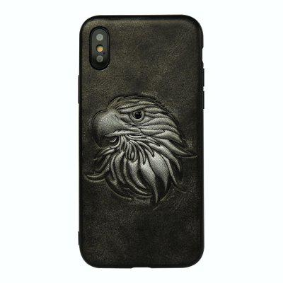 Eagle Head Embossment Phone Case for iPhone X