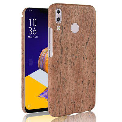 ASLING Wooden Grain PU + PC Protective Phone Case for Asus Zenfone 5 ZE620KL