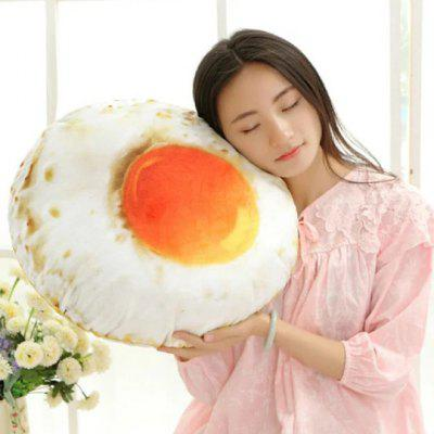 Poached Egg Cover Cushion Omelette Plush Pillow Simulation Toy