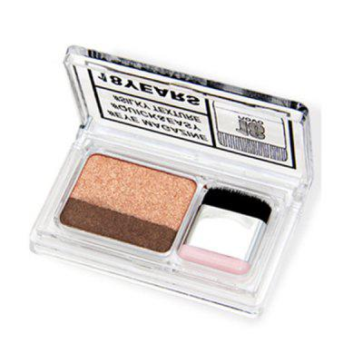NOVO 18 Year Double Color Quick Easy Pearl Eyeshadow with Brush