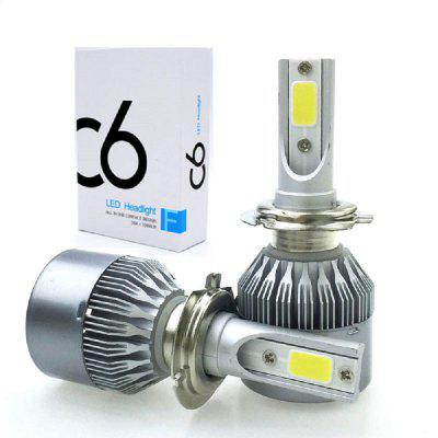 C6 H3 Car LED Headlight Bulbs Headlamps Fog Lights 2pcs briday 2pcs h3 car fog lights led bulb lamp 5630 smd auto leds bulbs car light source parking drl headlight 12v