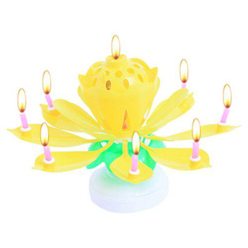 Musical Lotus Birthday Cake Candles Holder 1pc