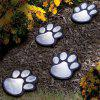 Solar LED Lamp Outdoor Cat Paw Print Landscape Light 4pcs - SILVER
