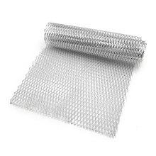 Car Vehicle Aluminum Alloy Rhombic Grille Mesh Sheet 8 x 25mm