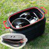 37L Telescopic Barrel Folding Storage Bucket Glove Box - BLACK