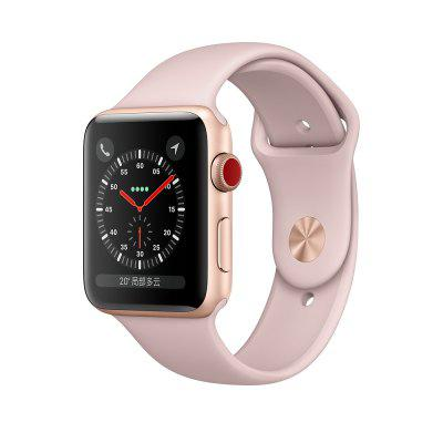 Original Apple Watch Séries 3 38mm Montre Connectée GPS de Sport avec Botier en Aluminium