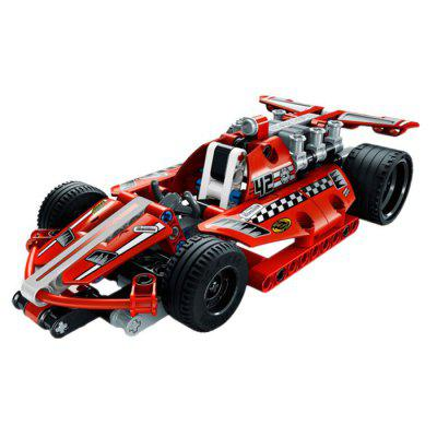 Pull Back Super Racing Car Block Assembling Toy