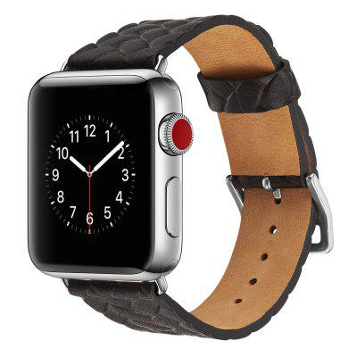 Weave Pattern Watchstrap Watchband for 38mm Dial Apple Watch Series