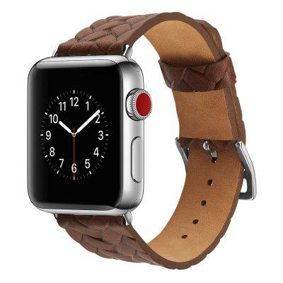 Weave Pattern Watchstrap Watchband for 42mm Dial Apple Watch Series