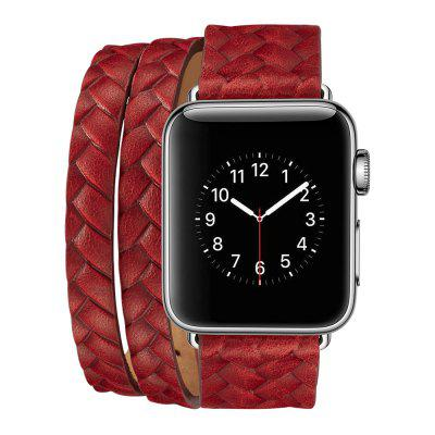 Leather Watchstrap Watchband for 38mm Dial Apple Watch Series
