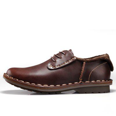 Male Business Vintage Casual Leather Shoes