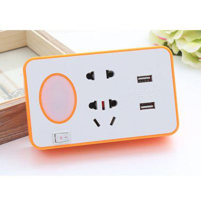 USB Power Strip Mobile Phone Holder with LED Light Independent Switch