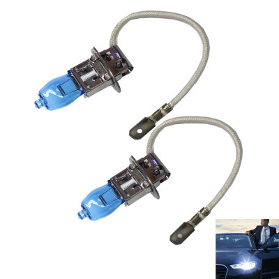 Car White Light H3 12V 100W 6000K 1800LM Headlight Bulbs 2pcs