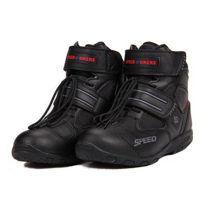 Riding Tribe A005 Breathable Motorcycle Boots Non-slip Racing Motocross PU Leather Shoes