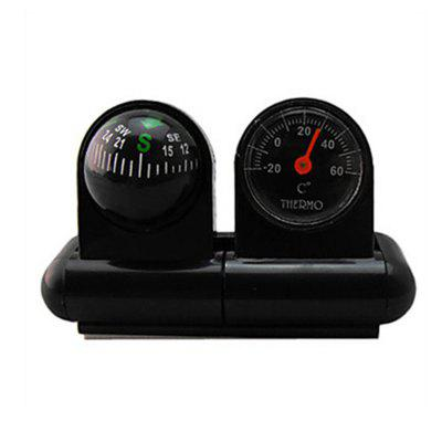 2 in 1 Car Decoration Compass with Thermometer