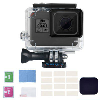 Sheingka Outdoor Waterproof Protective Case Kit for GoPro HERO 5 / 6 / 7 / 2018 Action Camera