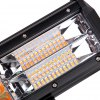 DY - 093 - WA - 180W - C 13 inch Three Row LED Spot Work Light Bar with Power Cable - BLACK