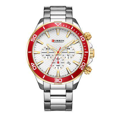 Men's Business Quartz Watch with Steel Band