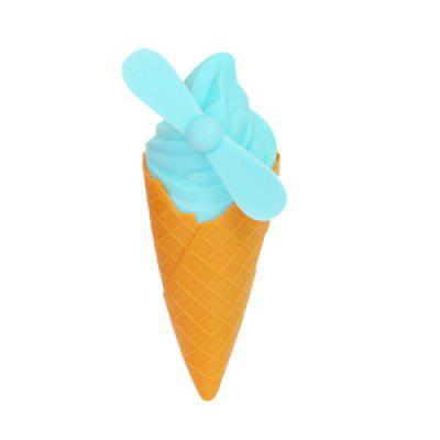 WYQH - 1 Cute Cone Ice Cream Small Fan USB Charging Mini Student Portable Dormitory Portable Handheld Fan