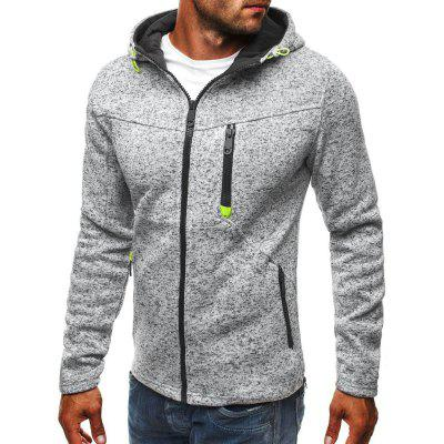 Slim Hooded Solid Color Full Zipper Hoodie