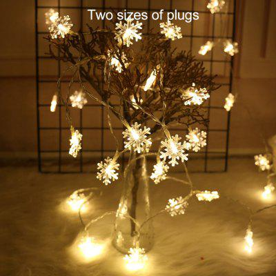 BRELONG Christmas Decoration 10 LED Snowflake Colorful String Light
