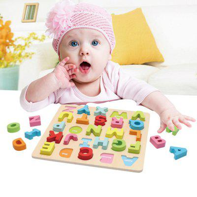 Color Children Early Education Wooden Letters Block Toy