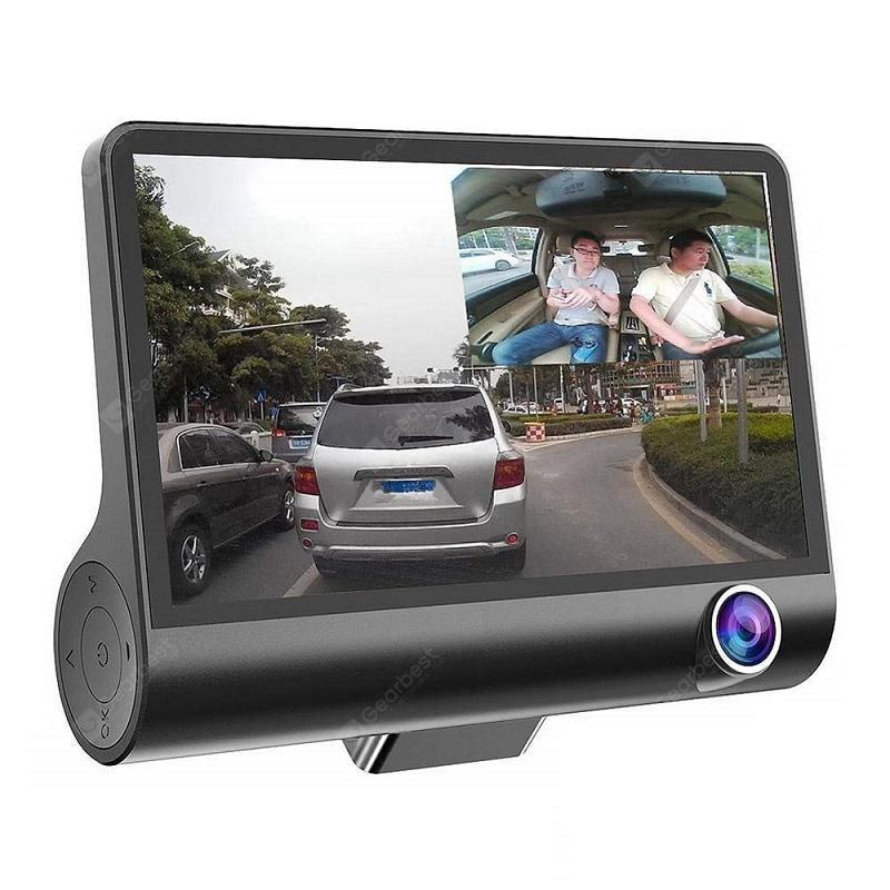Tecney 3 Cameras Lens 4.0 inch Dual Lens With Rearview Camera