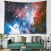 Elegant Univers Starry Galaxy Printed Polyester Brushed Tapestry - CHERRY RED