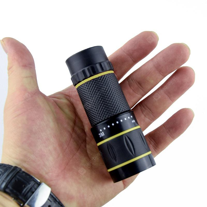 10X22 Portable Monocular with Adjustable Objective and Eyepiece Lenses
