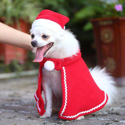 Natal Pano Pet Set Dog Hat Manto