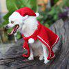 Christmas Pet Cloth Set Dog Hat Cloak - RED