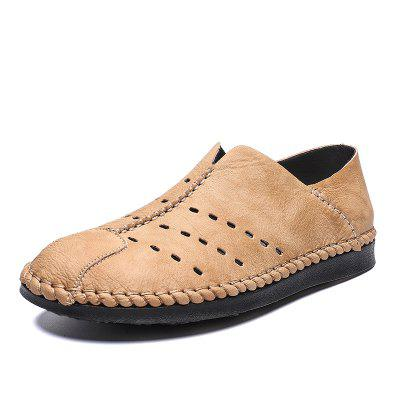 IZZUMI Men's Shoes Handmade Casual Shoes Large Size