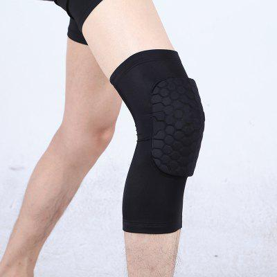 NUCKILY XJW218 Cellular Equipment Men Riding Motion Collision Knee Brace Professional Basketball High Elastic Breathable Outdoor Practical Leg Protector