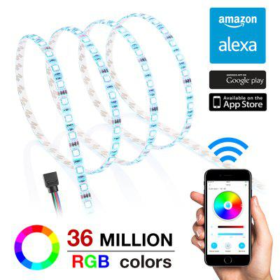 Smart LED Voice Control Waterproof Strip Work with Alexa