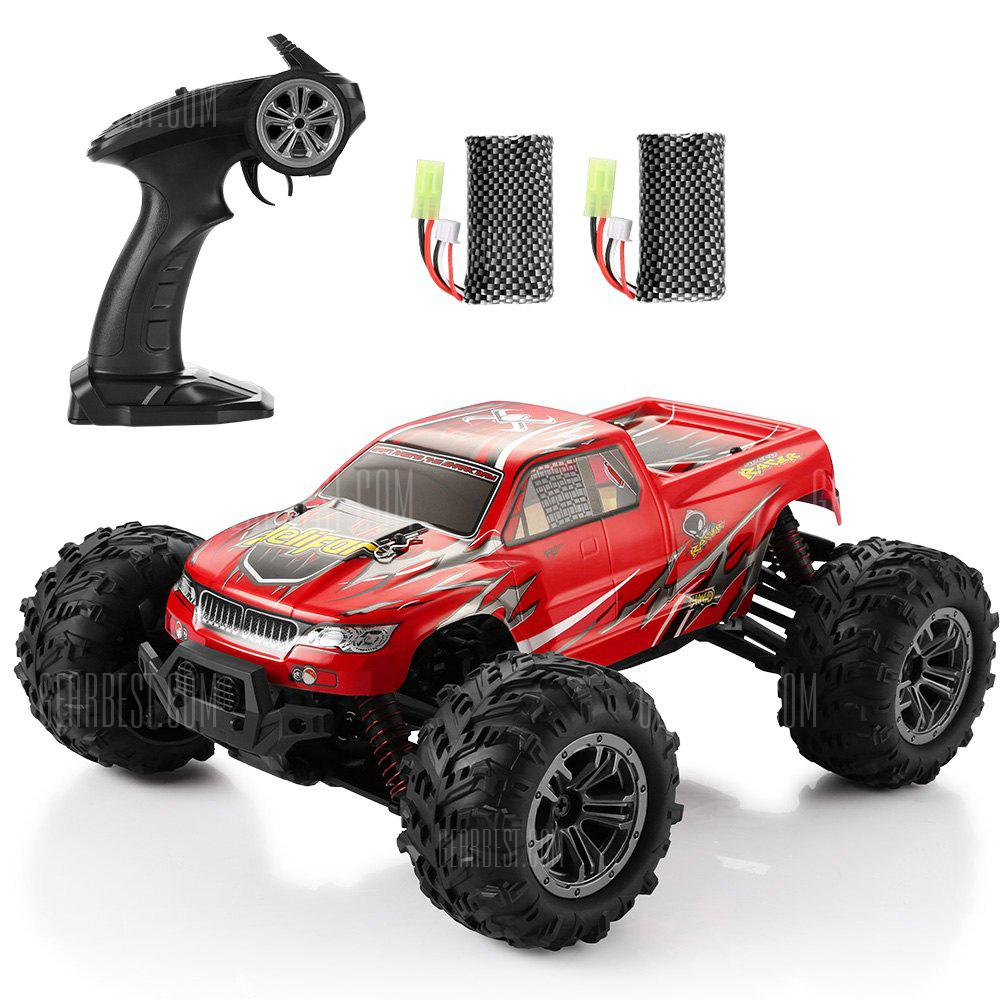 helifar 9130 1:16 4WD RC Car with Two Batteries - RED
