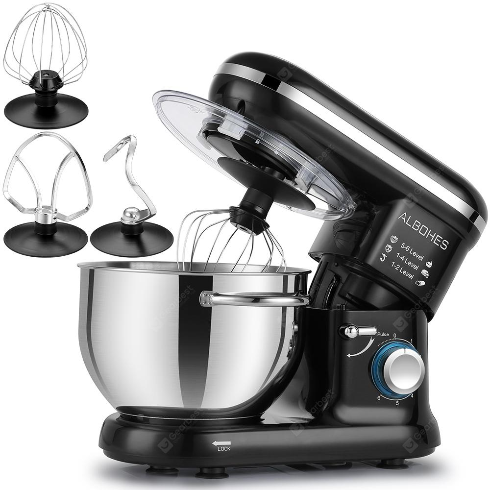 ALBOHES SM - 1301Z - 1 800W Bowl-lift Stand Mixer - BLACK EU PLUG