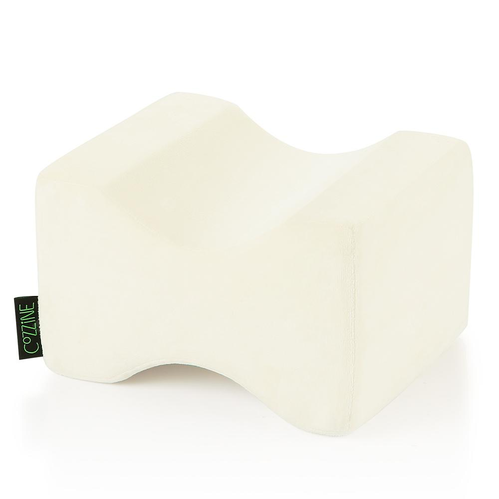COZZINE Pure Memory Foam Knee Pillow OFF WHITE