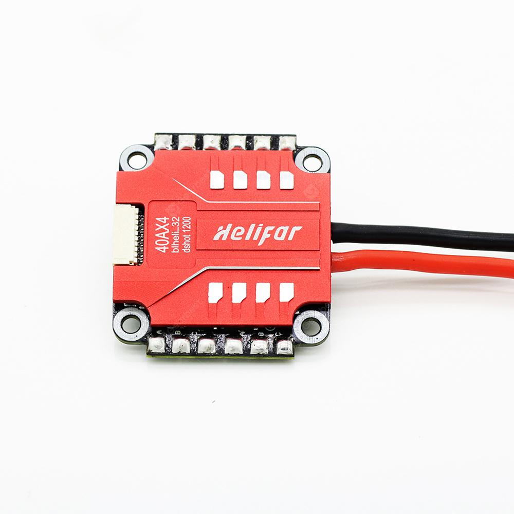 helifar XRaptor Blheli_32 4 1 2-in-4S 40 Brushless ESC per RC Racing Drones - RED