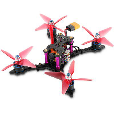 helifar X140 PRO Micro FPV Racing Drone - Black BNF with Frsky Receiver jmt snapper7 brushless whoop drone bnf micro 75mm fpv racing quadcopter 4in1 crazybee f3 fc flysky frsky rx 700tvl camera vtx