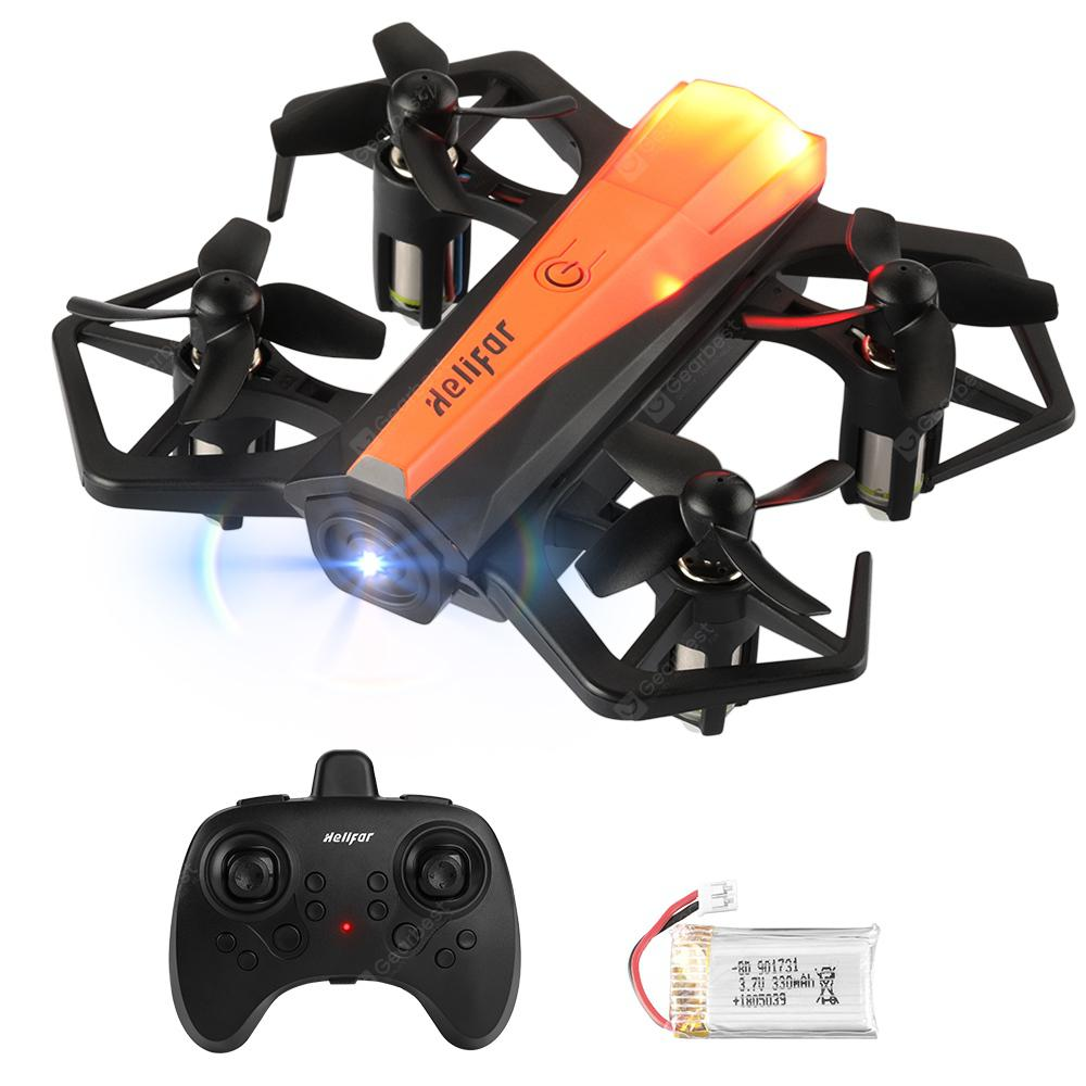 helifar H802 Air Press Altitude Hold Mini Portable RC Quadcopter - ORANGE SINGLE-BATTERY