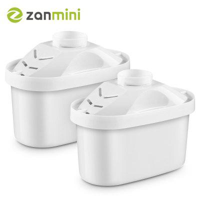 zanmini Pulling style Replacement Pitcher Water Filter Set of 2