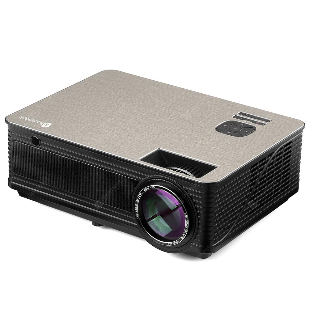 Gearbest Usa Houzetek M5 Led Portable Projector 16132 Free Shipping Unic Uc46 Mini Full Hd 1080p Support Red And Blue 3d Effect With Wifi Connection