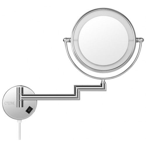 Cozzine 1810d 7x Double Sided Swivel Wall Mount Makeup Mirror With