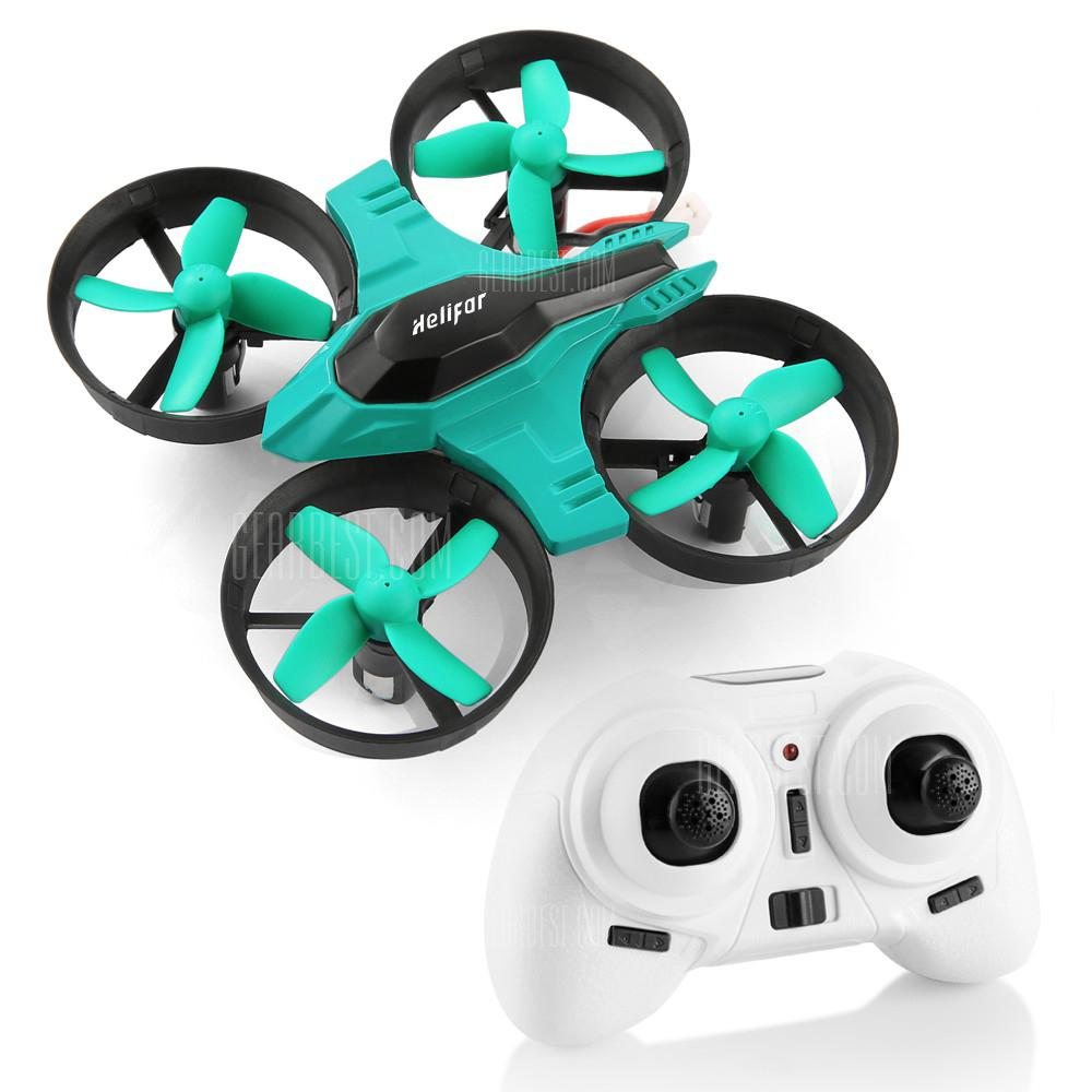 helifar F36 Mini 2.4GHz 4CH 6 Axis Gyro RC Quadcopter with Headless Mode Speed Switch - BLUE